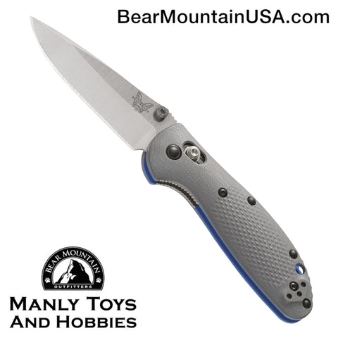 Benchmade Mini Griptilian AXIS Lock Knife Gray/Blue G-10 (2.91