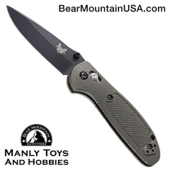 "Benchmade Mini Griptilian AXIS Lock Knife Olive Drab (2.91"" Black) 556BKOD"