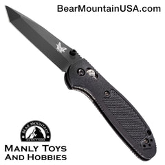"Benchmade Mini Griptilian Tanto AXIS Lock Knife (2.91"" Black) 557BK"