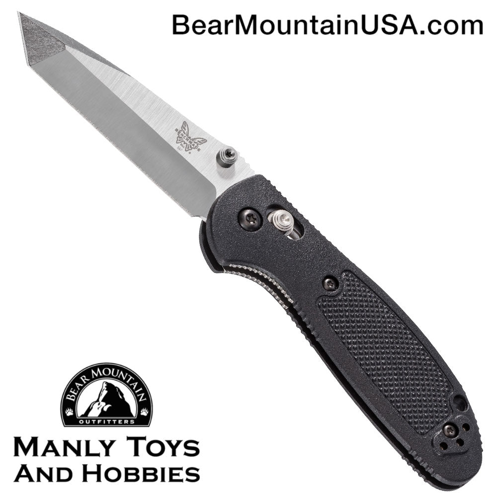 "Benchmade Mini Griptilian Tanto AXIS Lock Knife Black (2.91"" Satin) 557"