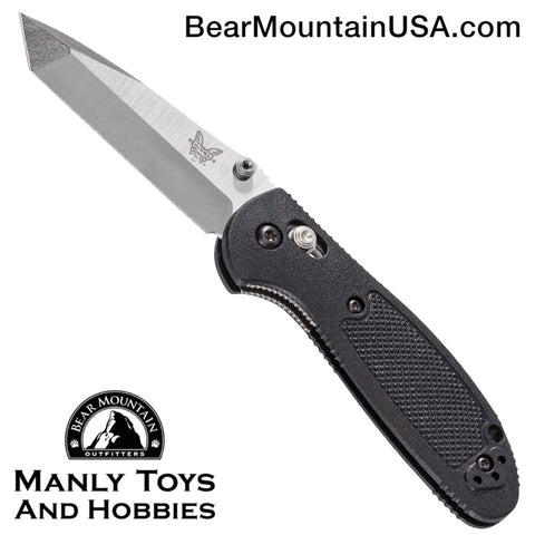 Benchmade Mini Griptilian Tanto AXIS Lock Knife Black (2.91