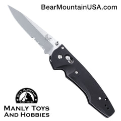 "Benchmade Large Emissary 3.5 AXIS-Assist Knife (3.45"" Satin Serr) 477S"