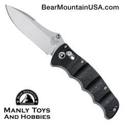 "Benchmade Nakamura AXIS Lock Knife Black G-10 (3.08"" Satin) 484"