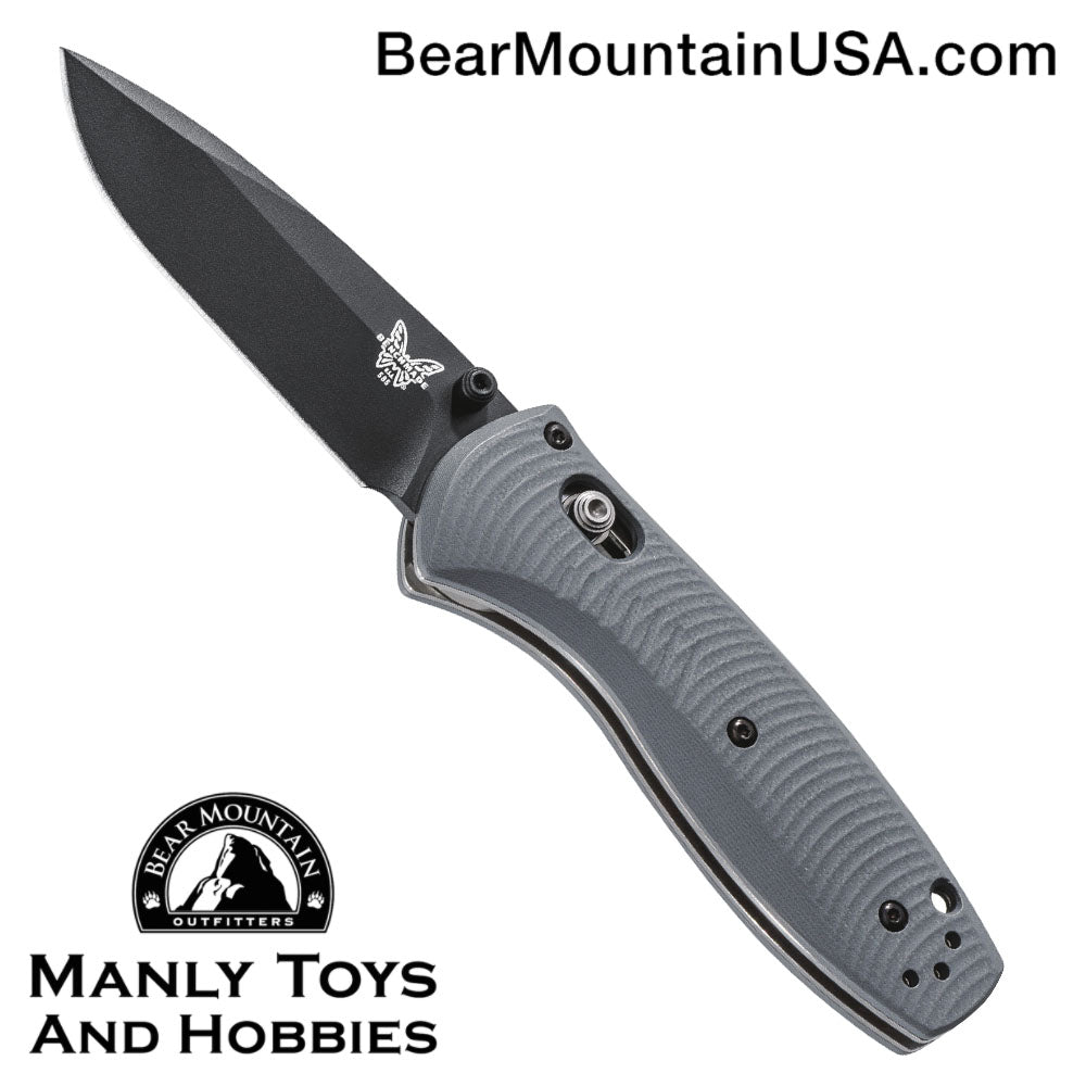 "Benchmade Mini Barrage AXIS-Assist Knife Gray G-10 (2.91"" Black) 585BK-2"