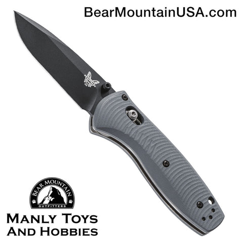 Benchmade Mini Barrage AXIS-Assist Knife Gray G-10 (2.91