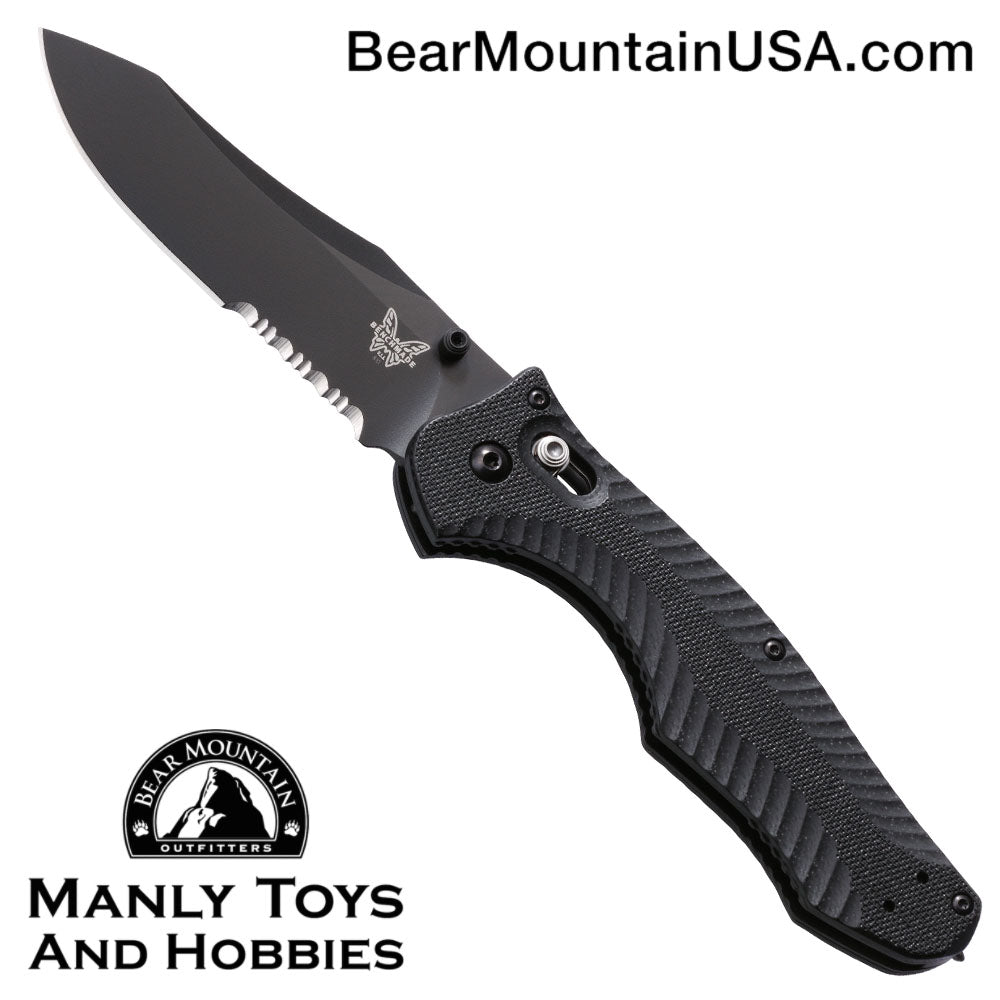 "Benchmade 810SBK Contego AXIS Lock Knife (3.98"" Black Serr)"