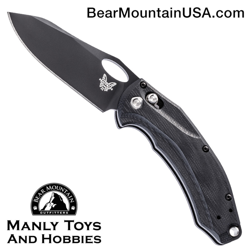 "Benchmade Mini Loco AXIS Lock Knife Black G-10 (3.38"" Black) 818BK"