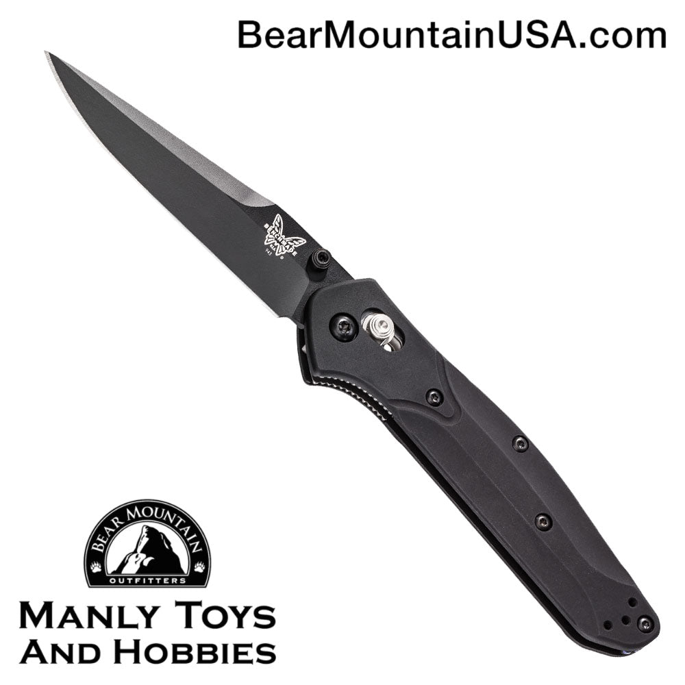 "Benchmade 943 Osborne AXIS Lock Knife (3.4"" Black) 943BK"