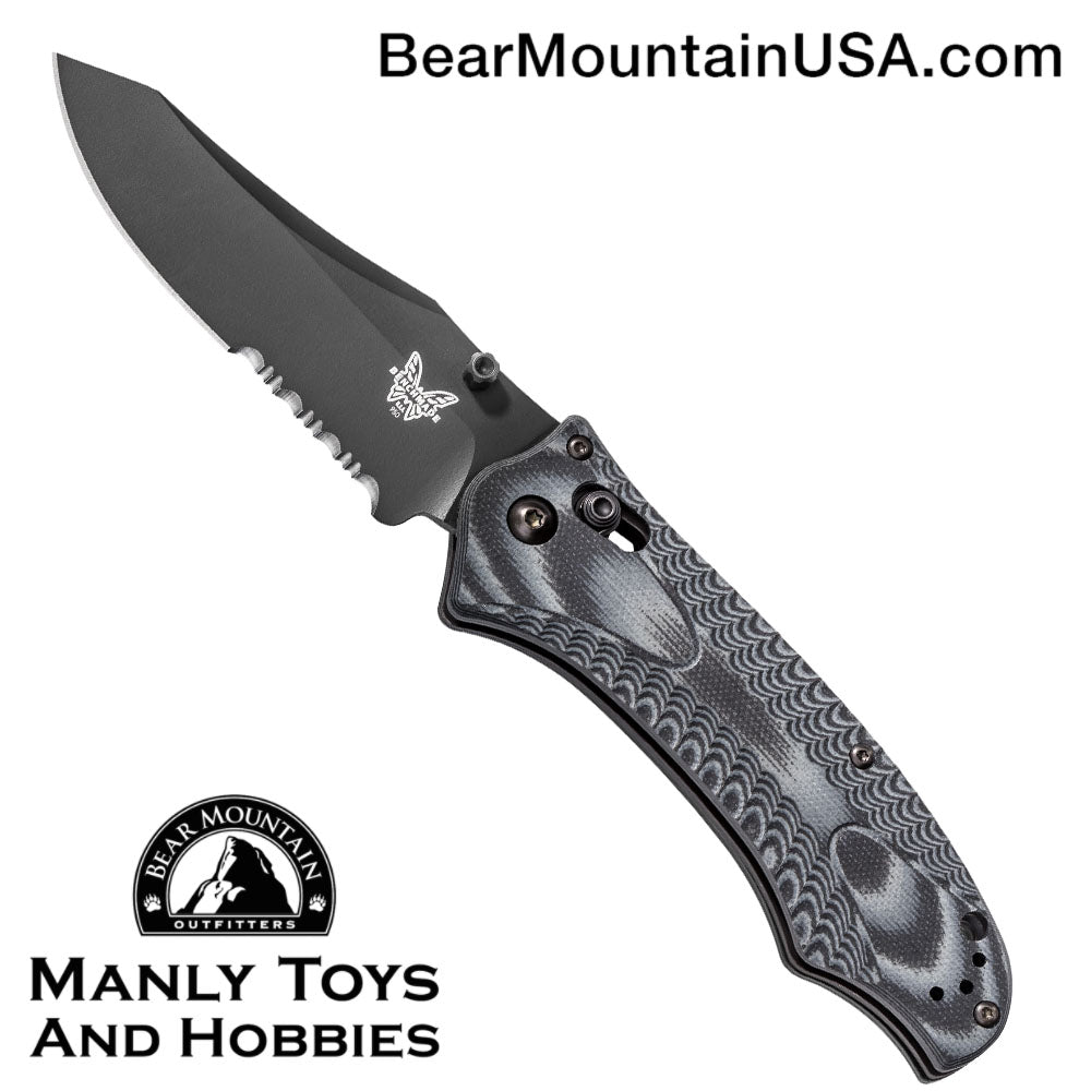 "Benchmade 950SBK Rift Osborne Folding Knife (3.67"" Black Serr)"