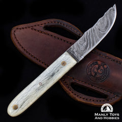 Jake2Jake #4090 Custom Hand Forged Damascus In Camel Bone2