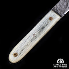 Jake2Jake #4090 Custom Hand Forged Damascus In Camel Bone5