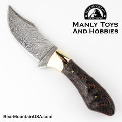 Custom Handmade Field Knife By Ted Hill with Custom leather Sheath, skinner, field knife, fixed blade, survival knife, 9999