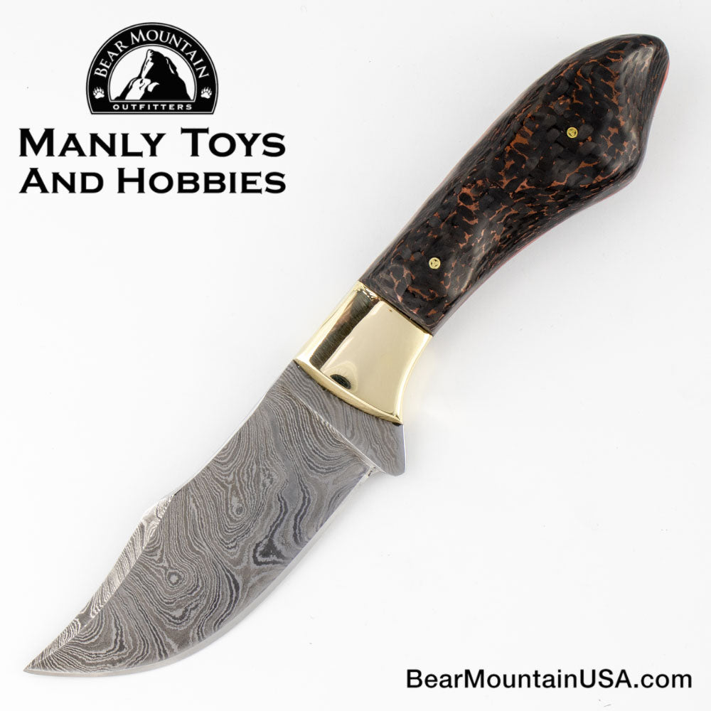 Custom Handmade Field Knife By Ted Hill with Custom leather Sheath, skinner, field knife, fixed blade, survival knife, 2