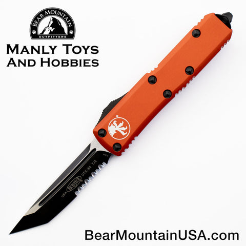 Microtech UTX-85 OTF Automatic Knife 233-2OR Orange Combo Tanto
