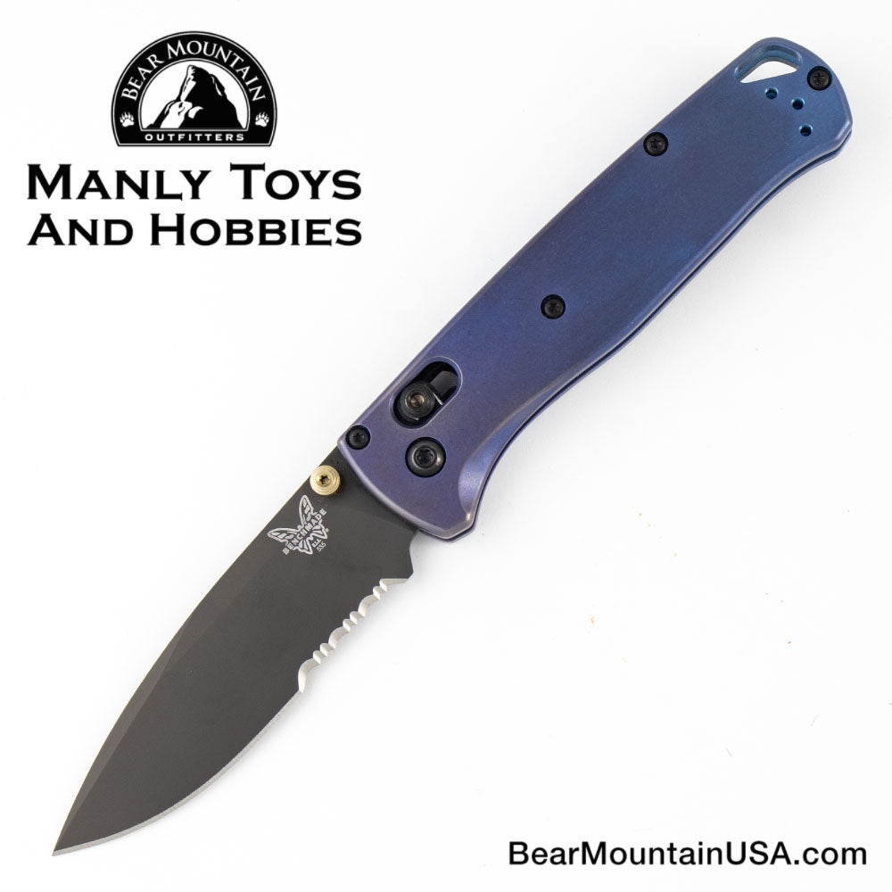 Benchmade Custom Bug Out with Titanium handle, edc, knife, survival, flipper,