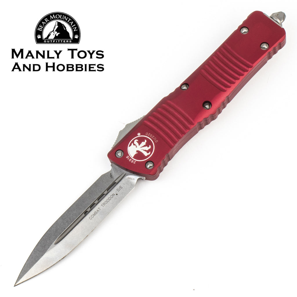Microtech Combat Troodon D/E Stonewashed 142-10 RD