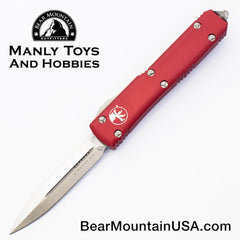Microtech Ultratech D/E Red OTF Automatic Knife 122-4 RD Satin