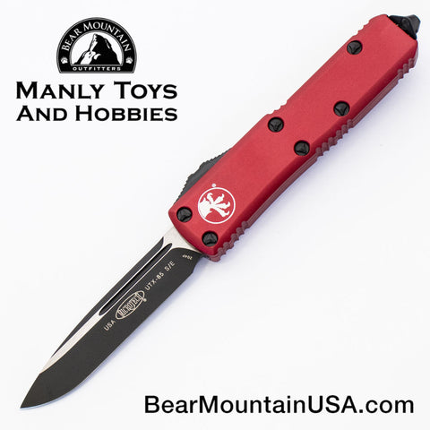 Microtech UTX-85 OTF Automatic Knife 231-1RD Black Blade