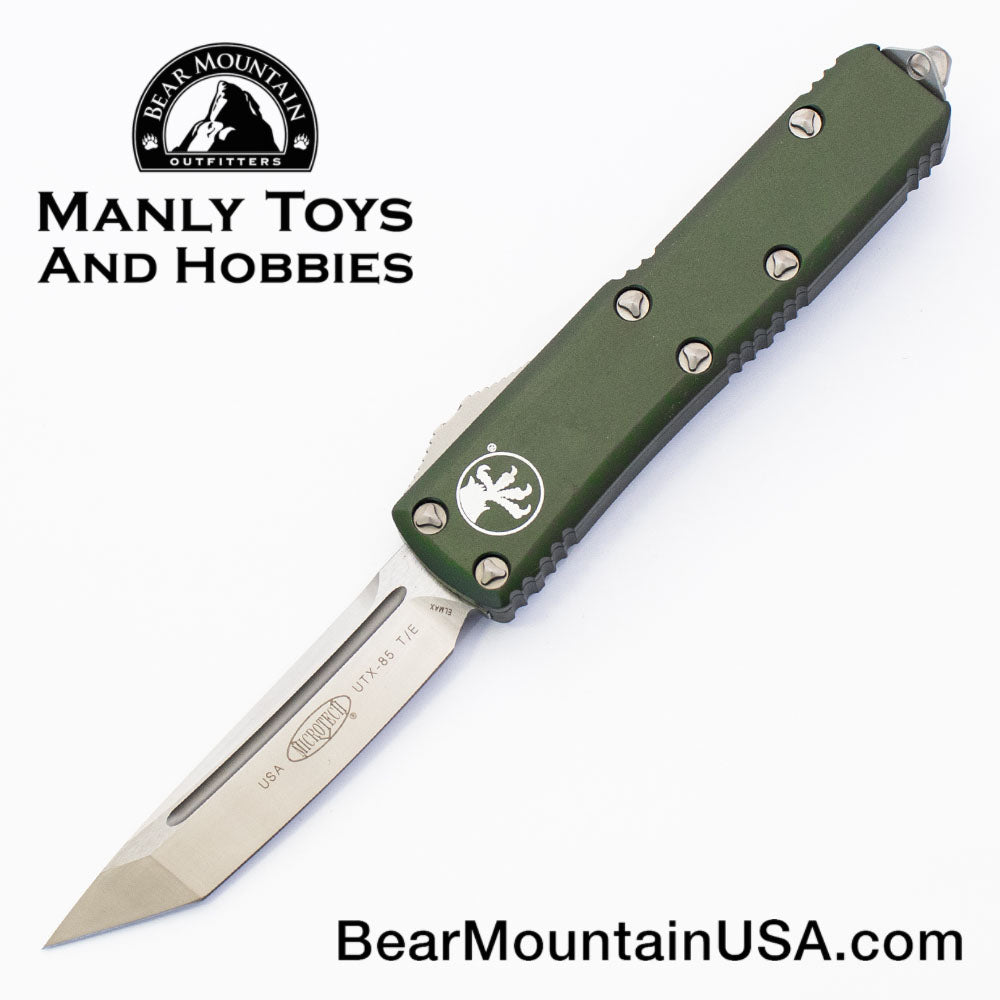 Microtech UTX-85 TANTO OTF Automatic Knife 233-4OD Green