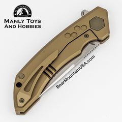 TUYAKNIFES HIVE With M390 And 6AL4V Titanium Handle tactical flipper, edc knife, survival knife, pocket knife, 4