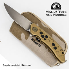 TUYAKNIFES HIVE With M390 And 6AL4V Titanium Handle tactical flipper, edc knife, survival knife, pocket knife, 7