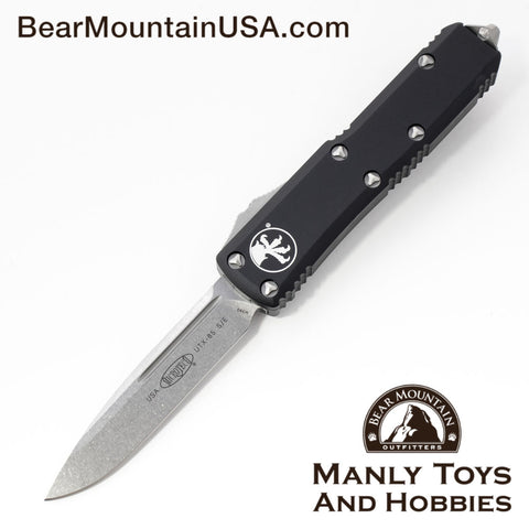 Microtech UTX-85 S/E OTF Automatic Knife 231-10 Drop Point Stone Washed