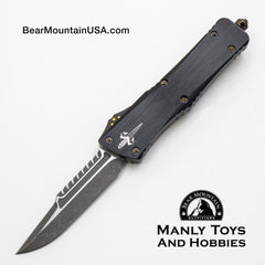 Marfione Custom Combat Troodon Interceptor With Fallout Finish M390 and Brass Ringed Hardware full