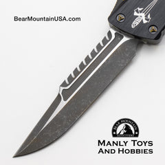 Marfione Custom Combat Troodon Interceptor With Fallout Finish M390 and Brass Ringed Hardware blade