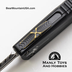 Marfione Custom Combat Troodon Interceptor With Fallout Finish M390 and Brass Ringed Hardware button