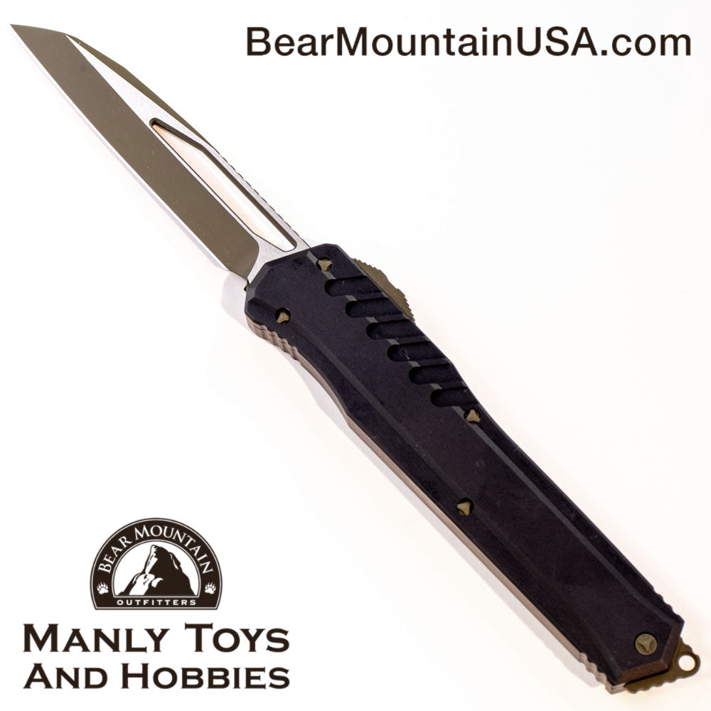 "Microtech Cypher MK7 S/E OTF Automatic Knife (4"" OD Two-Tone) 241M-1 GRBK Bear Mountain Outfitters"