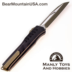 "Microtech Cypher MK7 S/E OTF Automatic Knife (4"" OD Two-Tone) 241M-1 GRBK Back Bear Mountain Outfitters"