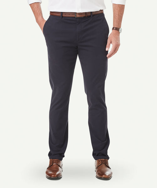 Gazman side pocket chino pants in navy