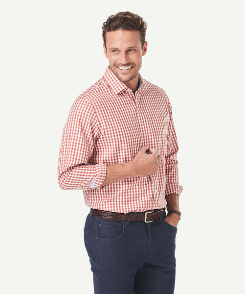 Gazman wrinkle free bold gingham check shirt