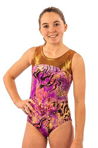 gymnastics animal print leotard