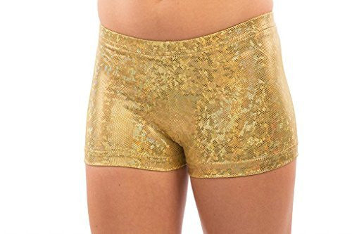 spandex gold shorts