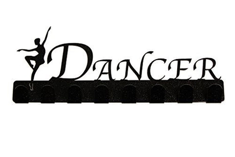 Lizatards Dance Medal Hanger Display Rack with Dancer by NOW in Two Colors Black and Pink