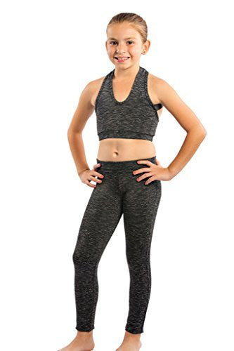 Black Space Dye Sports Bra Top