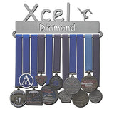 Lizatards Gymnastics Medal Holder Display Rack Xcel Bronze, Xcel Silver, Xcel Gold, Xcel Platinum, Xcel Diamond