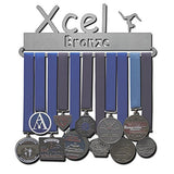 Lizatards Gymnastics Medal Holder Display Rack Xcel Bronze, Silver, Gold, Platinum, Diamond