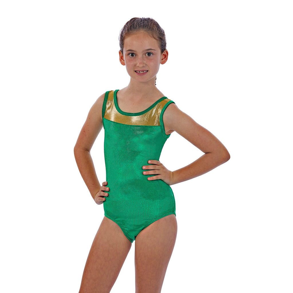 Girls Gymnastics Leotards Two Tone with Unique Back Design in Holiday Colors!