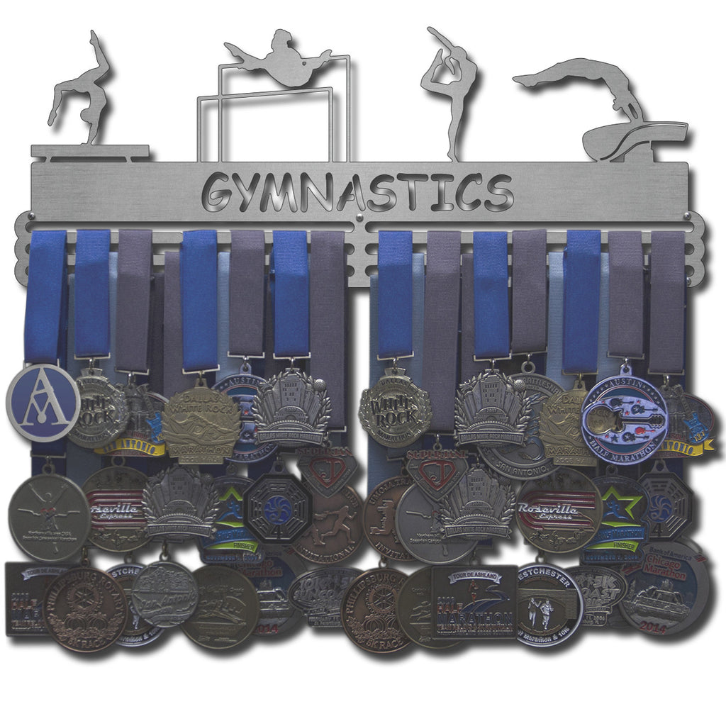 Lizatards GYMNASTICS Medal Holder Cut Out Display Male Or Female