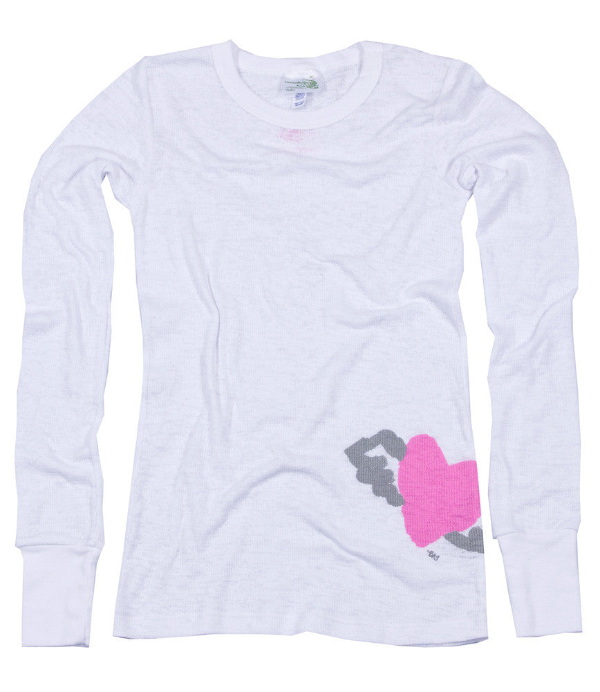 Lizatards Valentine's Heart with Wings Thermal Long Sleeve- Donation- Bargain