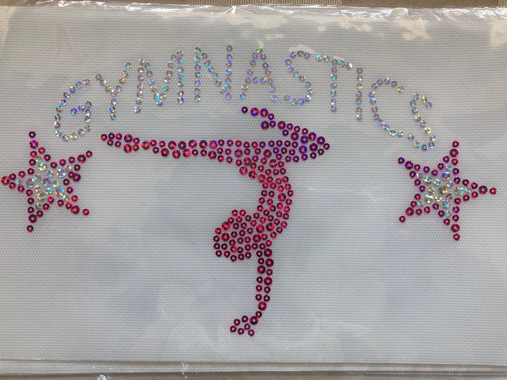 Lizatards GYMNAST with Star Spangles Heat Transfer Wholesale Pricing