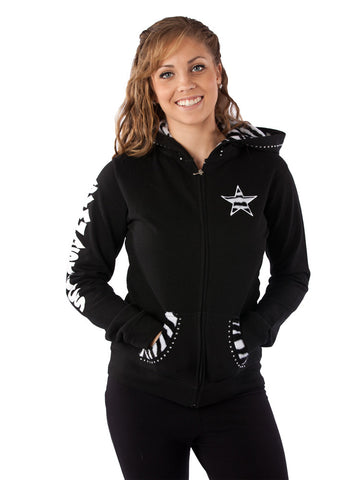 Gymnastics Zip Up Hoodie Sweatshirt by Lizatards