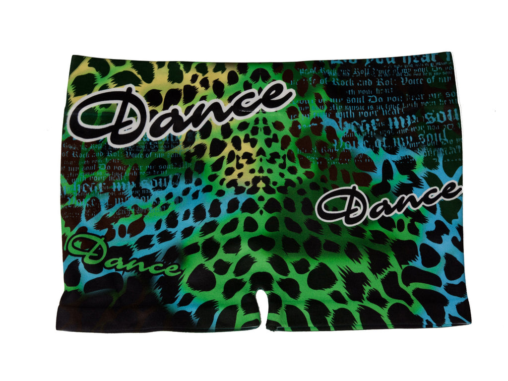Lizatards Animal Print Design Juniors Stretch Dance Shorts One Size Fits Most