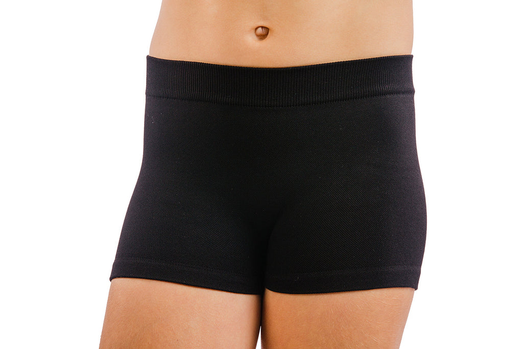 Black Stretch Shorts One Size Fits Most- Girls-Tween-Junior