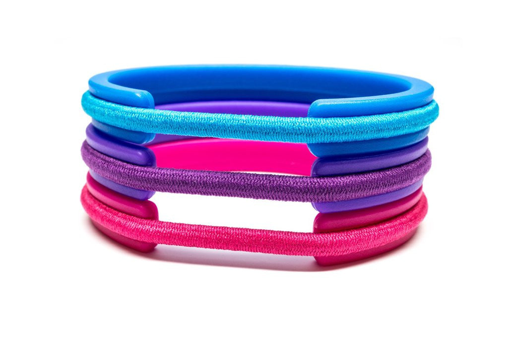 Lizatards Hair Tie Bangle Bracelet Set Kids or Tween Sizes