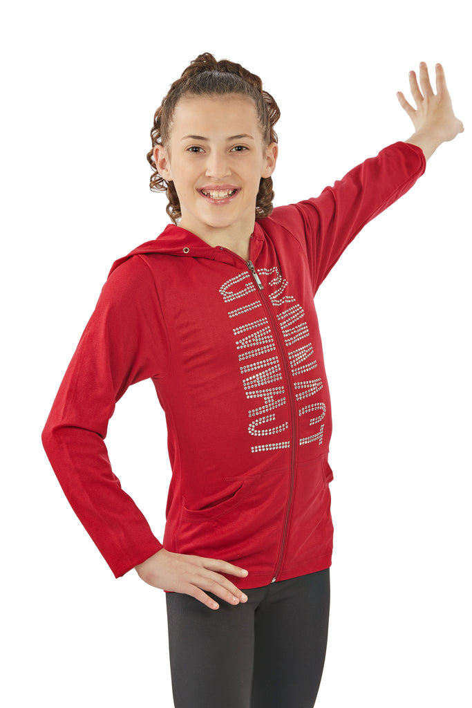Lizatards GYMNAST Sequin Stretch Zipper Front Jacket in One Size Fits Most