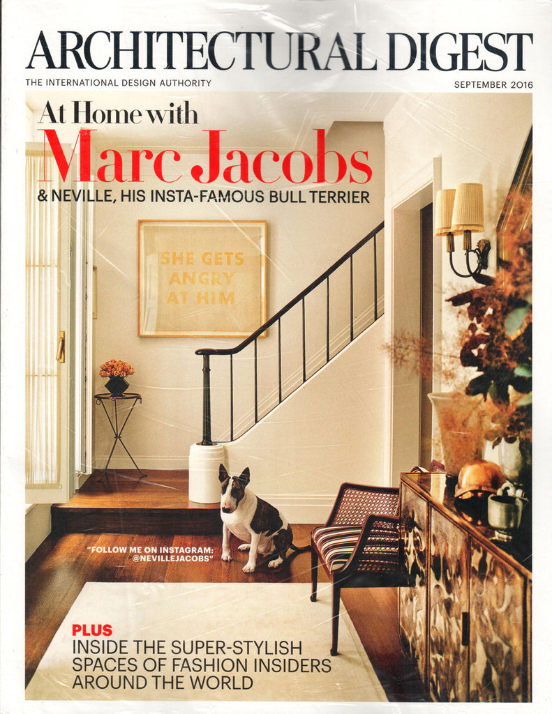 Architectural Digest Magazine September 2016 At Home With Marc Jacobs