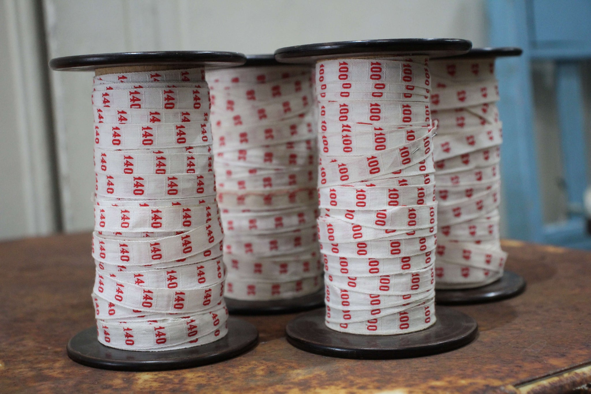 French Spools of Number Ribbon